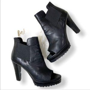 All saints black Sarris open toe booties  Size 9
